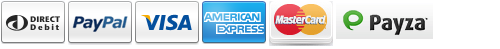 Payment Options - Direct Debit, MasterCard, Visa, American Express, Discover, and PayPal through Express Checkout